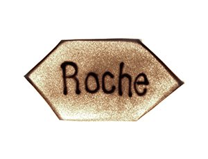 Roche Logo in Sand gemalt - Version 1