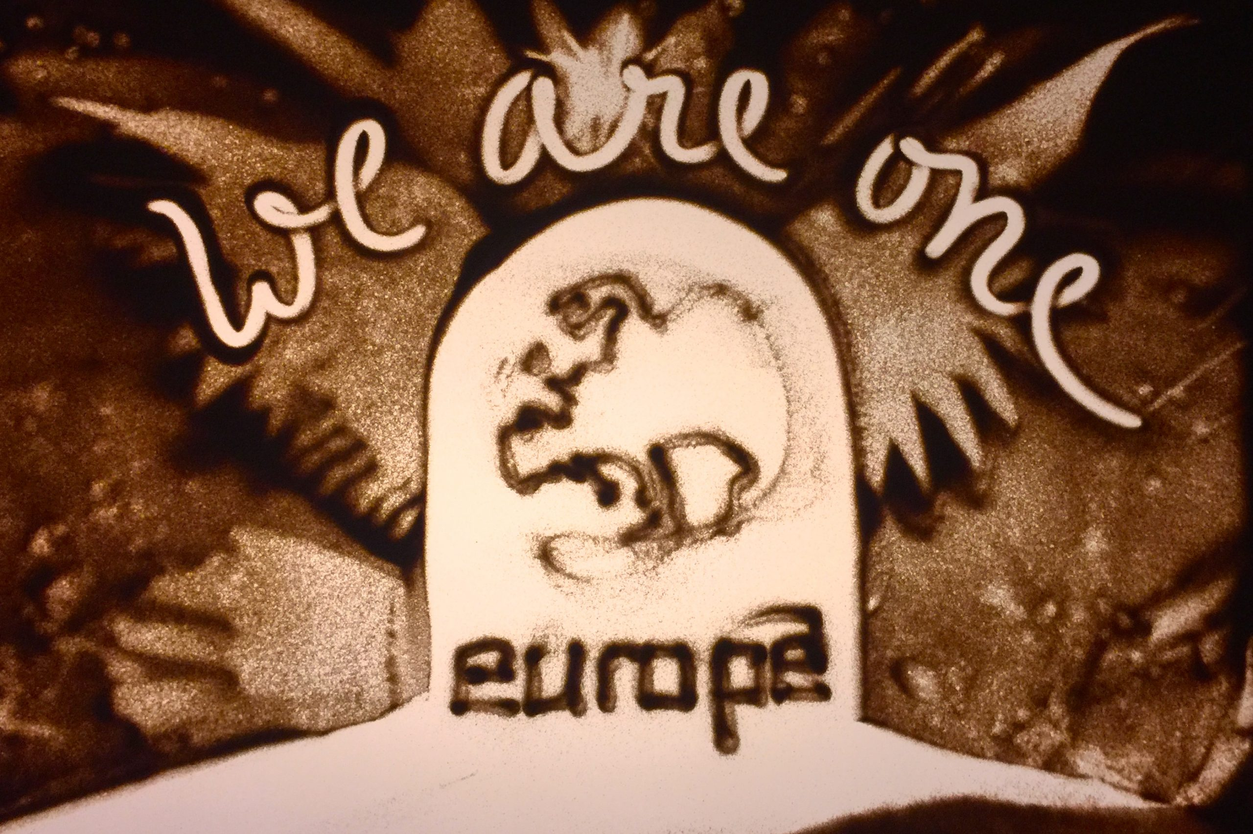 We are one - Sandmalerei
