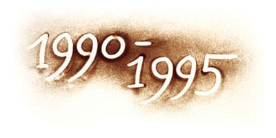 Jahreszahlen 1990 bis 1995 im Lebenslauf