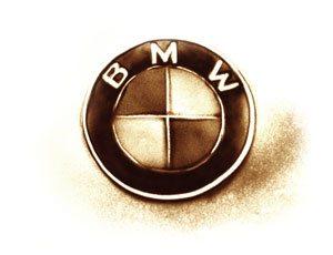 BMW Logo in Sand gemalt