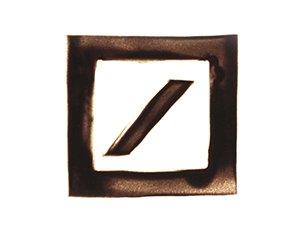Deutsche Bank Logo in Sand gemalt