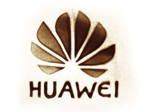 Huawei Logo in Sand gemalt