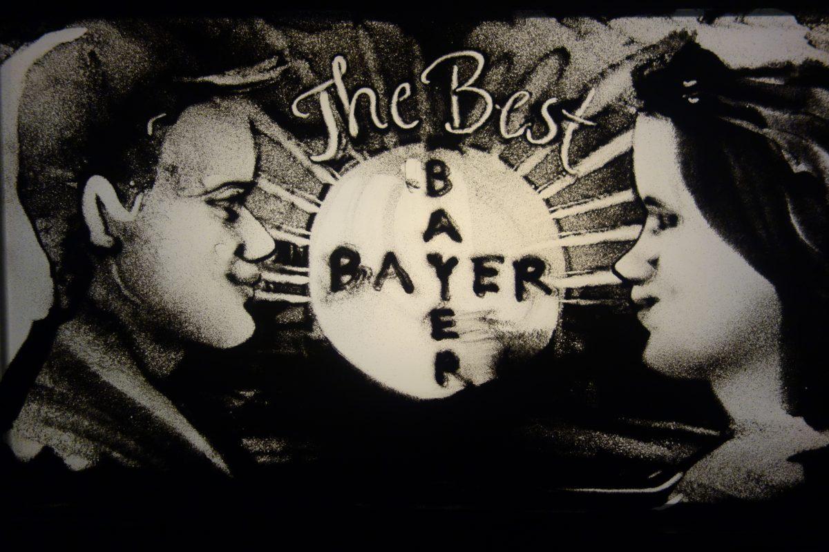 Sandbild aus der Show für Bayer