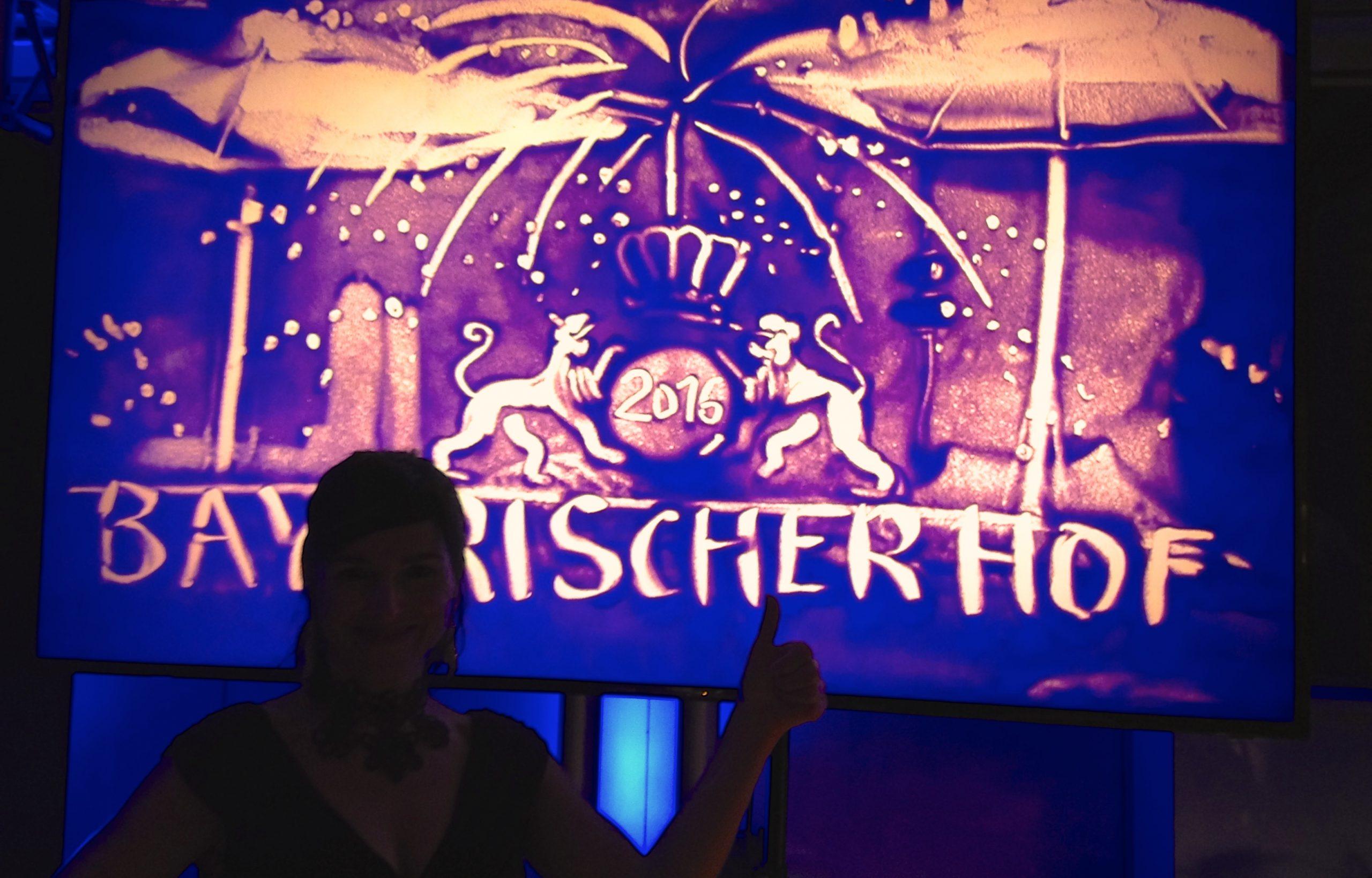 Sandmalerei Show für das Hotel Bayerischer Hof