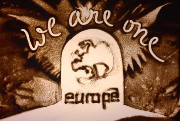 We are one - Sandmalerei