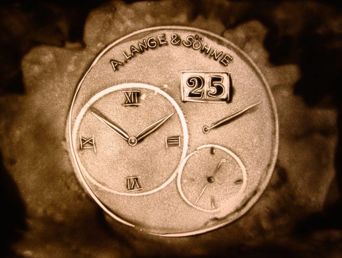 Sandbild einer A. Lange & Söhne Uhr