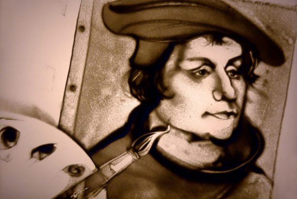 Sandbild von Lucas Cranach dem Jüngeren