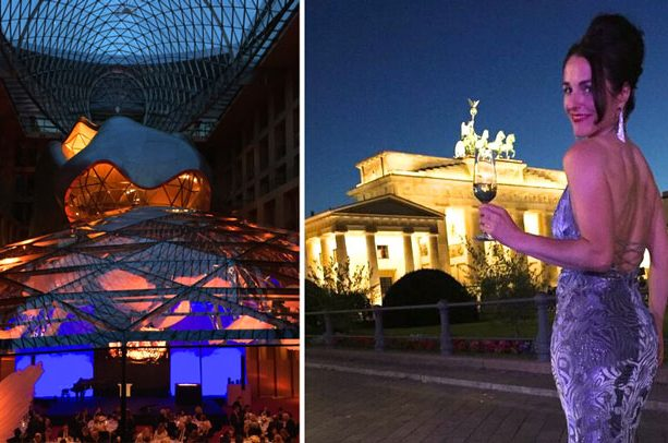 Frauke Menger nach dem Auftritt für Bayer in Berlin