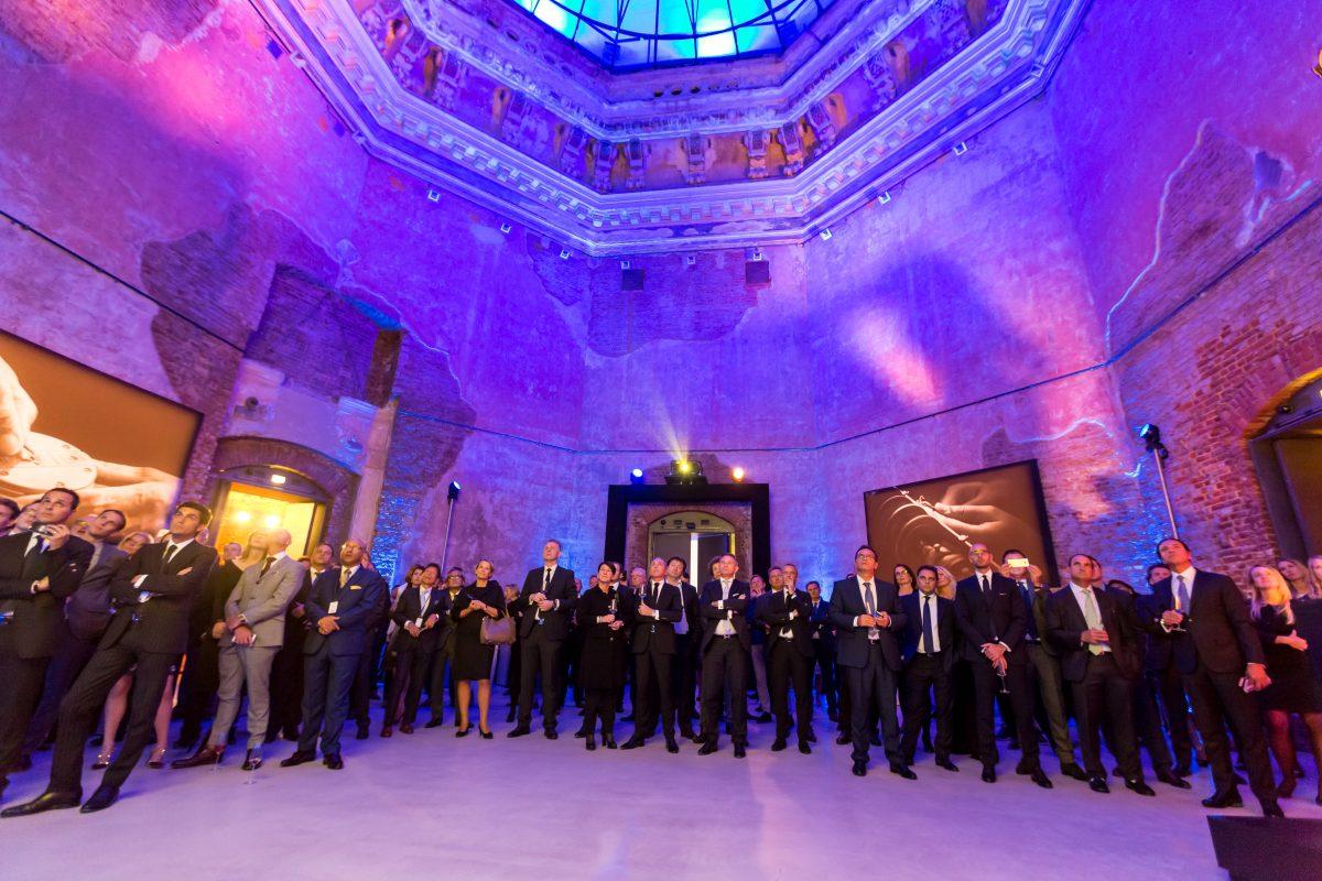 Kuppel der Kunstakademie Dresden beleuchtet für den ALS Partner Event
