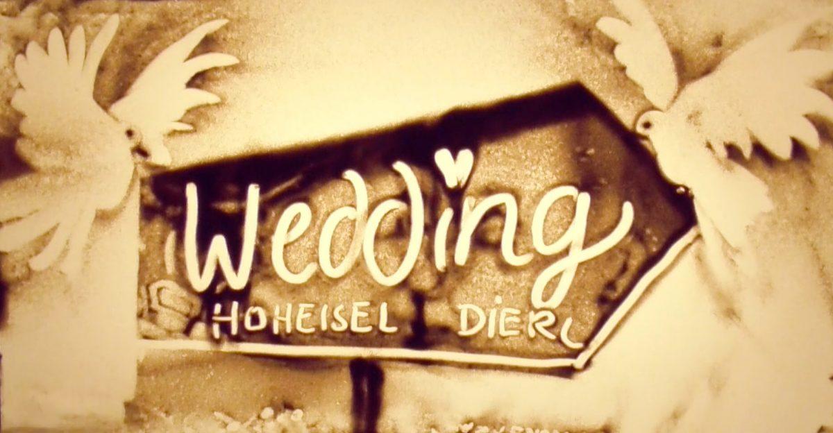 Sandmalerei Bild Wedding