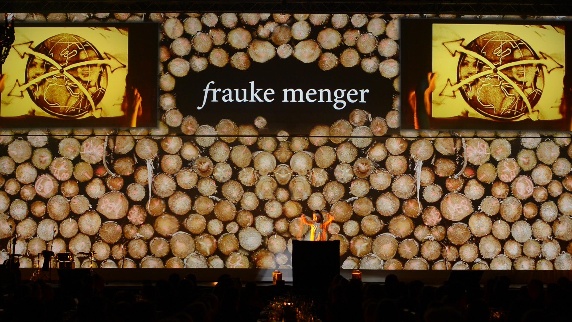 Bühne des Sandmalerei Auftritts für Stihl in Stuttgart