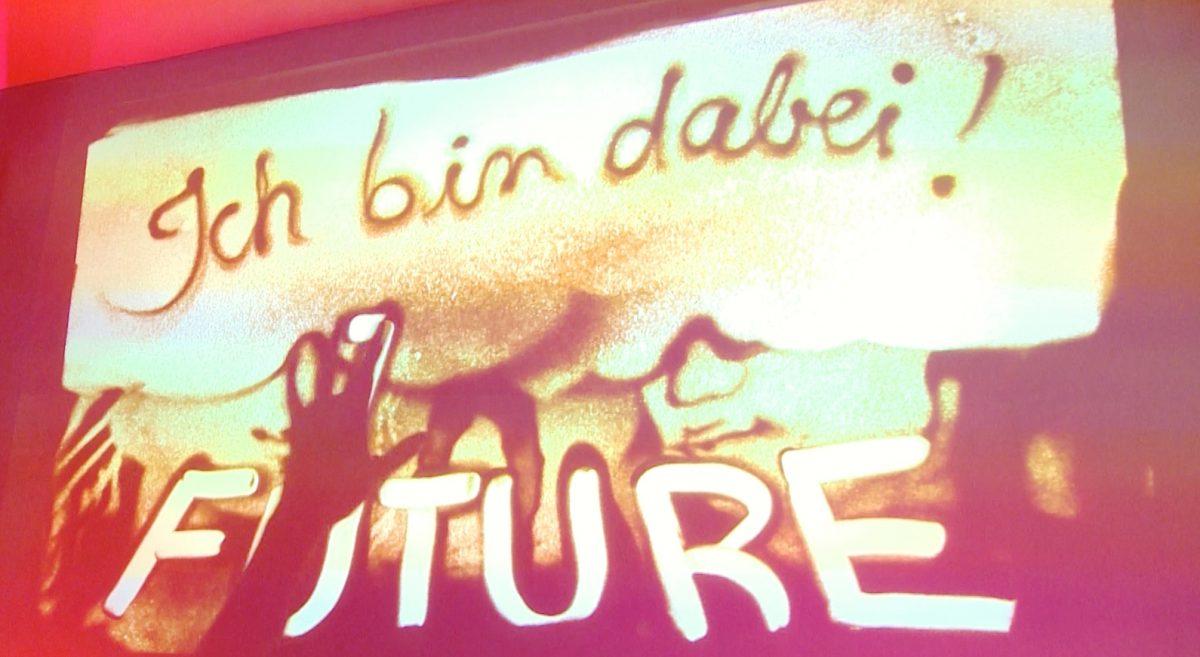Sandmalereibild Future