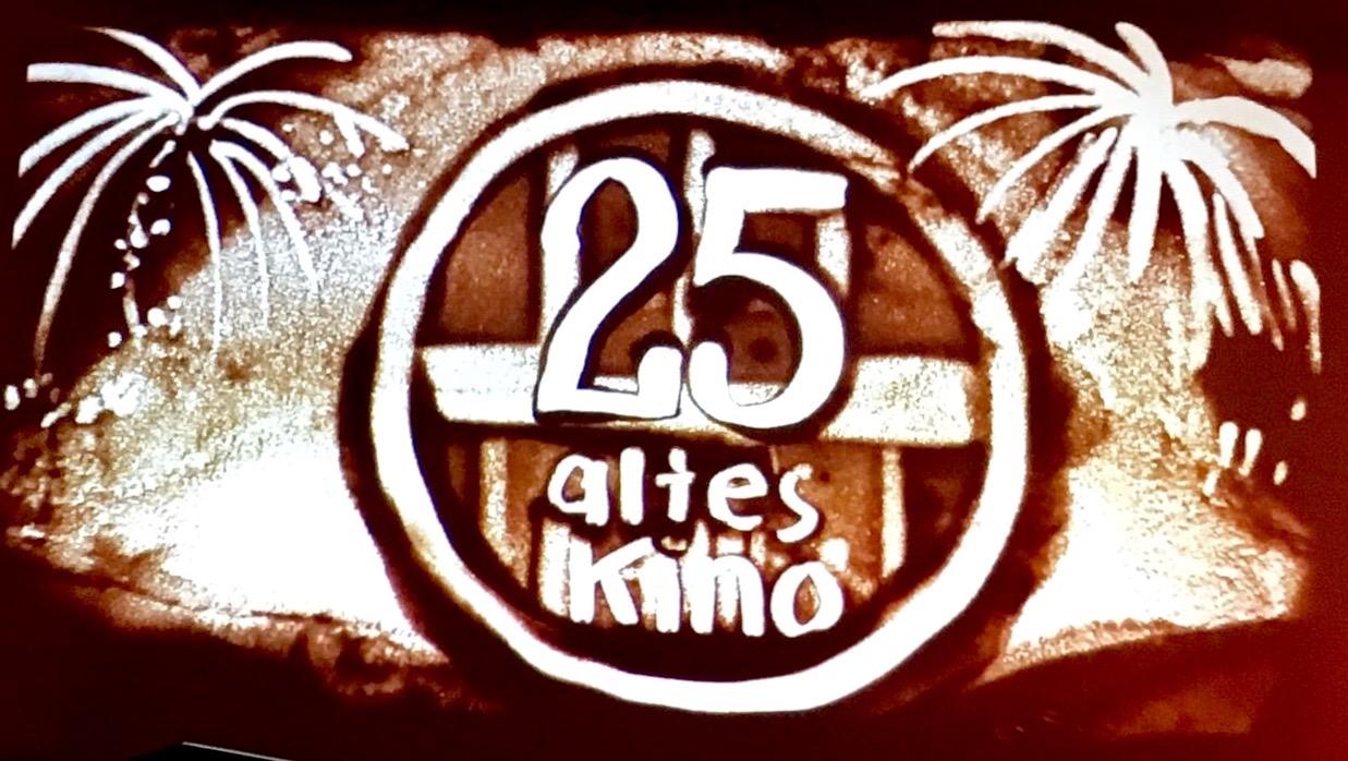 25 Jahre altes Kino Sandbild