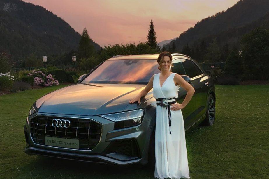 Audi Q8 und Frauke Menger