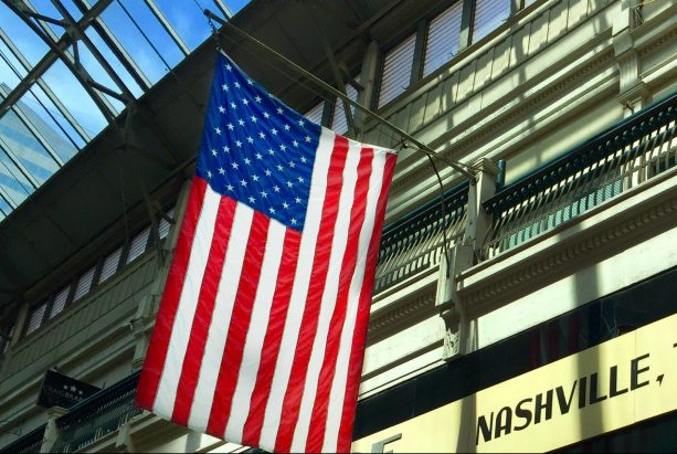 Amerika Flagge - Sandmalerei Frauke Menger