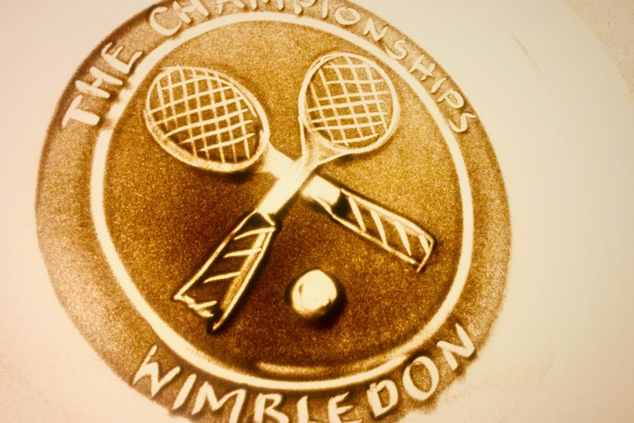 Wimbledon Sandmalerei